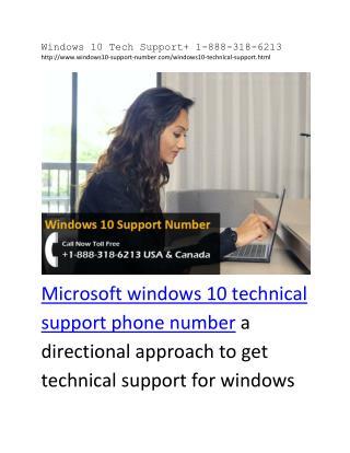 Windows 10 Tech Support  1-888-318-6213