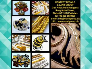 Military Uniform cap Cord, Badges, Accessories Supplier