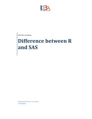 Difference between R and SAS