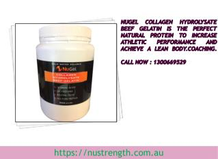 Australia Gelatin Collagen Supplements