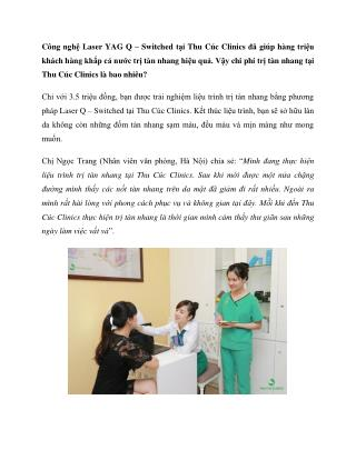 chi phi tri tan nhang tai thu cuc clinic