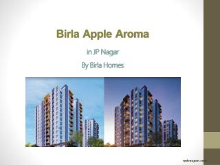 Plush Apartments In Birla Apple Aroma JP Nagar