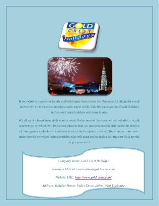 Disneyland Paris Short Breaks Holidays or Tour by Air