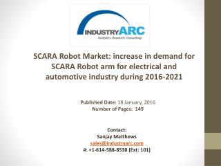 SCARA Robot Market Analysis | IndustryARC
