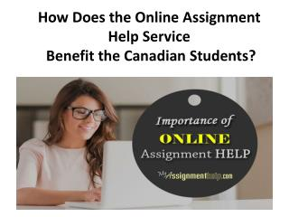 Online Assignment Help Canada From MyAssigmentHelp.com Experts