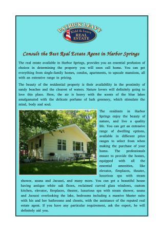 Harbor Springs Real Estate