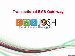 Bulk transactional sms gateway | Online bulk sms services - SMSJOSH
