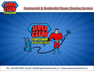 Super Clean Steam Cleaning Toronto