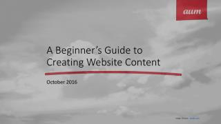 A Beginner's Guide to Creating Website Content