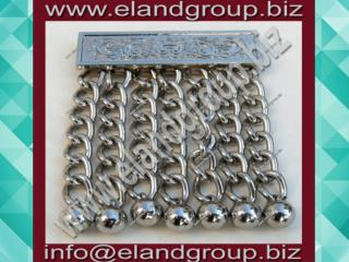 Masonic Apron Chain Tassels Silver Finish