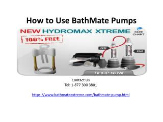 How to Use BathMate Pumps