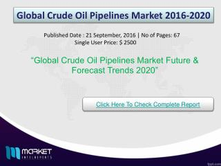 Global Crude Oil Pipelines Market Market Growth & Trends 2020