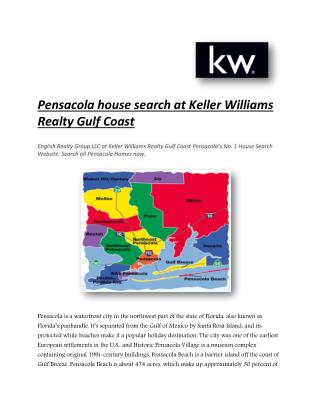 Pensacola house search at Keller Williams Realty Gulf Coast