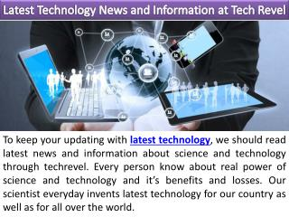 Latest Technology News and Information at Tech Revel
