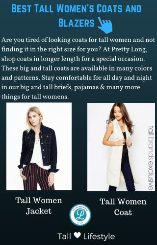 Best Tall Women's Coats and Blazers