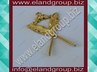 Masonic Secretary Collar Jewel in Gold Tone
