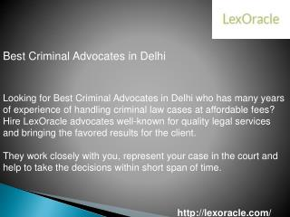 Best Criminal Advocates in Delhi