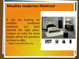 Meubles modernes Montreal