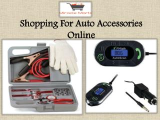 Shopping For Auto Accessories Online