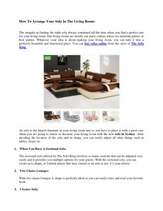 How To Arrange Your Sofa In The Living Room: