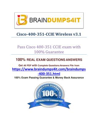 Cisco 400-351 Real Exam Question Answer