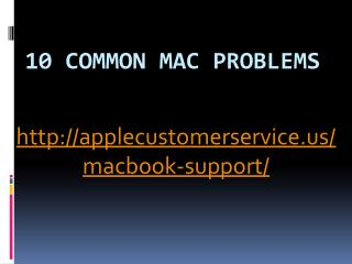 10 Common Mac Problems