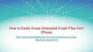 User Guide to Remove Unwanted Crash Files from iPhone