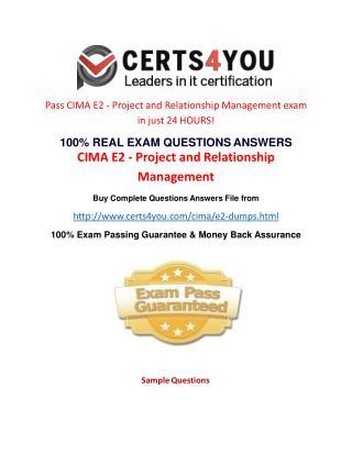 Cima E2 Exam Questions