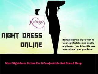 Night Dress Online In Latest Collections