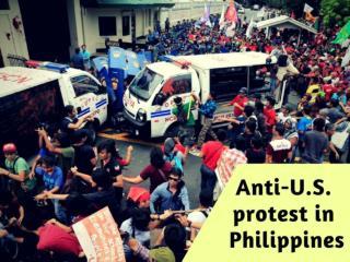 Anti-U.S. protest in Philippines