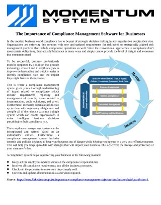 The Importance of Compliance Management Software for Businesses