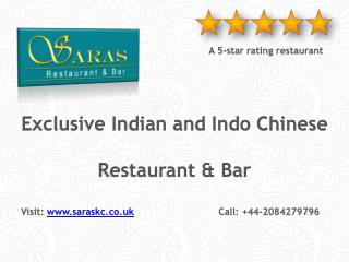 Saras Indian and Indo Chinese Restaurant Harrow | Indian Restaurant & Bar | 020-8427-9796