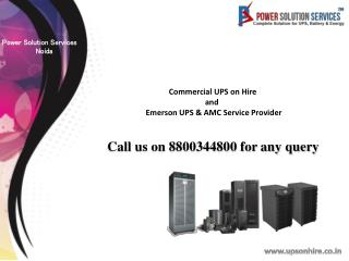 Contact Emerson Hipulse UPS Service Provider in Noida-Contact on 8800344800