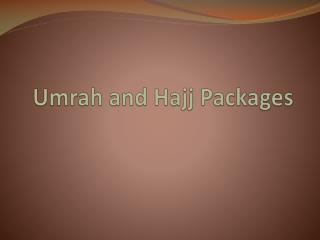 Umrah Packages 2k16