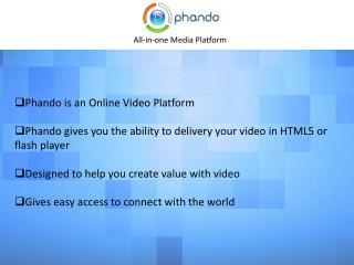 Phando - Online Video Platform