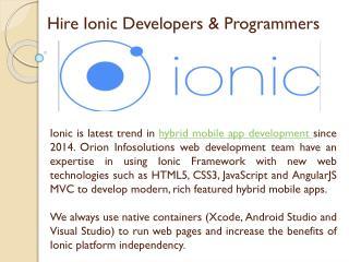 Ionic App Developers