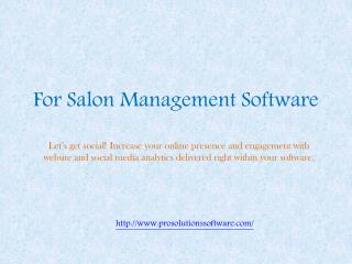 For Salon Management Software