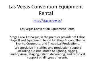 Las Vegas Convention Equipment Rental
