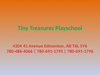 Child Friendly Pre School in Edmonton