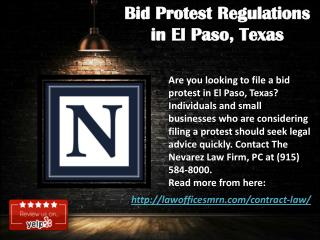 Bid Protest Regulations in El Paso, Texas