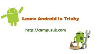 Learn Android in Trichy