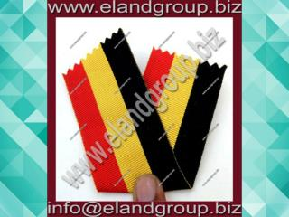 Medal Ribbon Black With Red & Yellow