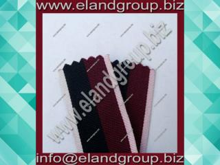 Medal Ribbon maroon with black & white