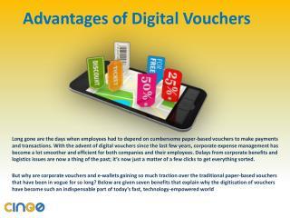 Advantages of Digital Vouchers