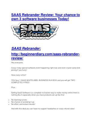 SaaS Rebrander reviews and bonuses SaaS Rebrander