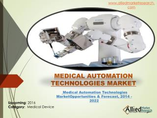 Medical Automation Technologies Industry Size & Share, 2022