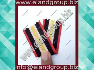 Medal Ribbon Red Whit Black & Yellow Ribbon