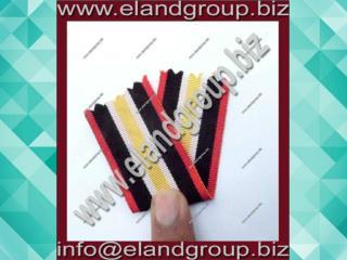 Medal Ribbon Red Whit Black & Yellow Ribbon