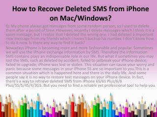 How to recover iphone text messages