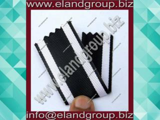 Medal Ribbon White & Black
